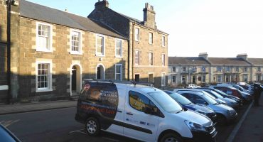 Traditional Buildings Health Check van in Stirling street